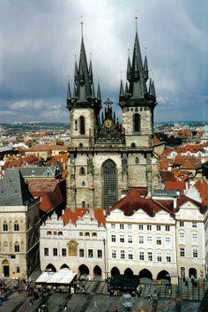 Tyn Church, Old Prague, Czech Republic.
