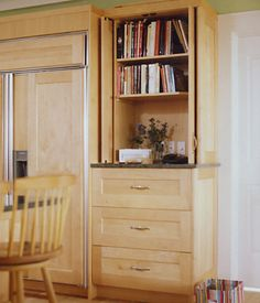 Kitchen design ideas on pinterest rustic kitchens drawers and kitchen islands - Retractable kitchen cabinet doors ...
