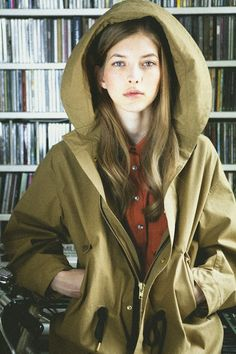 Maison Kitsune Fall 2012/ The model is wearing a Parker coat and a Safari Blouse Solid