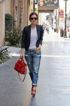 """""""boyfriend"""" jeans, super comfy and versatile!"""