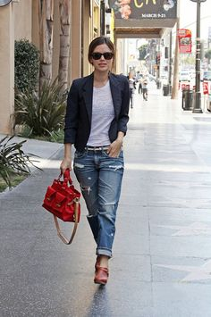 I want these - Rachel Bilson in AG Jeans Ex-Boyfriend Crop Jeans