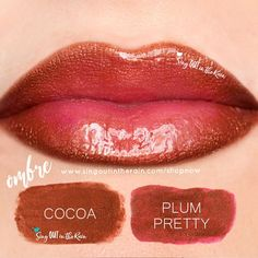 "Learn to mix it up. Use LipSense Mixology to create this ""Pretty Cocoa Ombre"" LipColor by layering Cocoa & Plum Pretty.  #lipsense #mixitup"