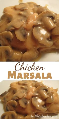 This chicken marsala recipe is so quick and easy. Perfect for a weeknight, this chicken mushroom dinner can be prepared within 30 minutes. Sounds simple, and it is — simply delicious. Italian Stuffed Shells, Grilled Cheese Rolls, Marsala Recipe, Homemade Pretzels, Stuffed Mushrooms, Stuffed Peppers, Chicken Marsala, Mushroom Chicken, Boneless Chicken Breast