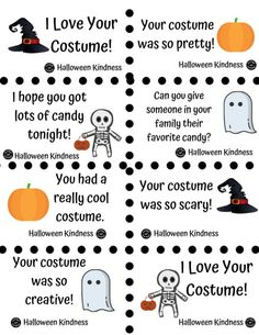 Halloween Kindness Notes to spread kindness this Halloween to trick or treaters. It's the perfect kindness activity for kids. A great way to encourage kindness among kids, and for your own family to show kindness to others! Enjoy a happy and safe Halloween with this great hack for parents. #HappyHalloween #ShowKindness #HappyFall