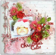 2 Crafty Chipboard : Three Layouts PLUS A VIDEO TUTORIALWith a Touch of ChristmasBy Di Garling