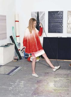 artists in residence: anna edwards by norman wong for flare june 2013