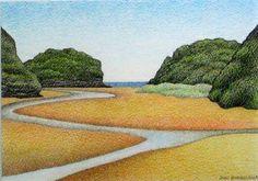 Mill Creek, Rakiura  by Don Binney