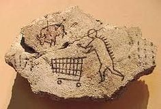 Art prankster Banksy puts fake rock art of a caveman with a shopping trolley on the walls of the British Museum. Street Art Banksy, Banksy Work, Arte Banksy, Bansky, British Museum, Art Intervention, Art Jokes, Vintage Embroidery, Dinosaurs