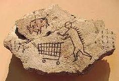 Art prankster Banksy puts fake rock art of a caveman with a shopping trolley on the walls of the British Museum. Banksy Work, Street Art Banksy, Art Intervention, Palais Galliera, Art Jokes, Bansky, Vintage Embroidery, Street Artists, Dinosaurs