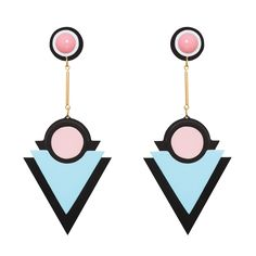 Imitation jewelry from India Geometric Jewelry, Modern Jewelry, Imitation Jewelry, Schmuck Design, Leather Jewelry, Metal Jewelry, Cute Earrings, Polymer Clay Earrings, Designer Earrings