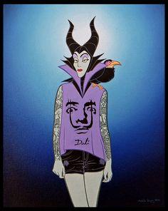 Jose Rodolfo Loaiza - Evil Queen Salvador Dali T-shirt – Disenchanted – Disney Disney Characters Losing Their Innocence Punk Disney, Arte Disney, Disney Marvel, Disney Art, Animated Disney Characters, Disney Face Characters, Disney Villains, Disney Style, Disney Love