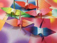 Origami orizuru harmony color