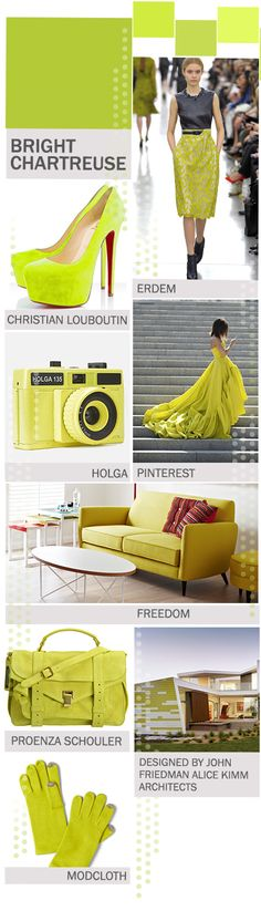 Lime Inspiration: Pantone Color Report Fall 2012: Bright Chartreuse