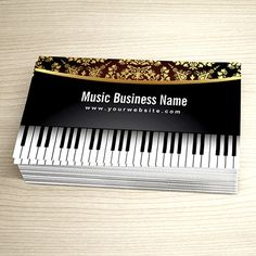 Music teacher music notes elegant business card teacher business customizable luxury realistic piano music lessons business card colourmoves