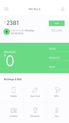 PAY BILL Android App Template – Template by Wsdesign