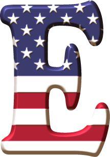 Alfabeto con la Bandera de USA Scrapbook Letters, Banner Letters, Monogram Letters, Letter Symbols, Alphabet And Numbers, Alphabet Letters, Holiday Fonts, Alphabet Photography, Minnie Png