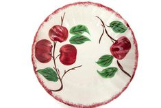 Excited to share the latest addition to my #etsy shop: Vintage Blue Ridge Southern Potteries Crab Apple Soup Bowl 8 Inch Hand Painted Made in USA #housewares #red #green #blueridge #handpainted #madeinusa #blueridgepotteries #crabapple http://etsy.me/2CQz4vB