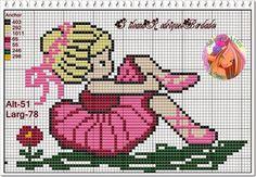 **Blog Amor Perfeito** Gráficos de ponto cruz: Lindas garotinhas dançando balé