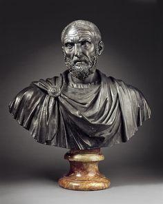 Bust of Lucius Junius Brutus, by Ludovico Lombardo, ca. Roman Sculpture, Bronze Sculpture, Sculpture Art, Ancient Romans, Ancient Art, Rome Antique, Art Rules, Pottery Art, Archaeology