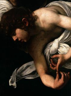 The Inspiration of Saint Matthew (detail), 1602 - Caravaggio