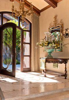 Between The Oaks - mediterranean - entry - santa barbara - Jeffrey Doherty Designer