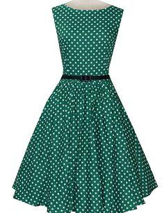 Women's Vintage Slim Polka Dot Printing Sleeveless Dress(With Belt) 3097252 2016 – $35.99