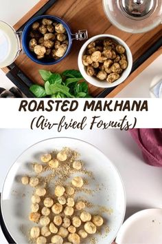 This crunchy and Masala Makhana/ Spicy Foxnut Recipe is prepared in air-fryer and is coated with Besan (Gram Flour) or Chickpea Flour and spices. It is an excellent healthy snack that we can make ahead and store.