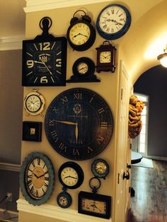 Clock collage wall
