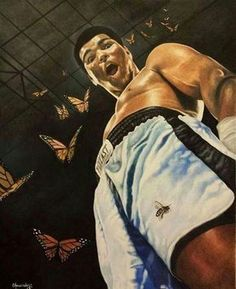 """""""Float like a butterfly sting like a bee."""" #RIP"""