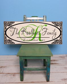 Beautiful personalized wood sign  monogram by defineyourspacevinyl, $36.00