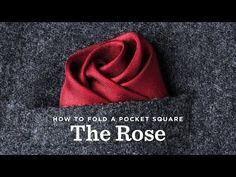 How To Fold a Pocket Square The Wave Fold - YouTube