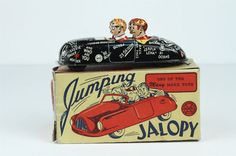 Marx Jumping Jalopy College Mechanical Tin Wind Up Car
