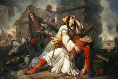 Greek Independence, Albanian Culture, Greece Painting, Greek Warrior, Exotic Art, Greek History, Elves And Fairies, National Art, Greek Art