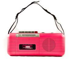 Brings back mixtape memories // Vintage Boom Box 1980's Tape Player.