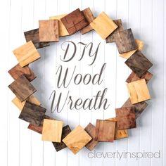 Original DIY Wreath Of Pine Boards   Shelterness