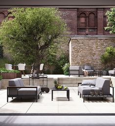 Here are some modern outdoor ideas from BoConcept. Enjoy your favourite glass of wine, a comfortable seat with a view and the sun on your new, beautiful outdoor patio. Outdoor Dining Furniture, Outdoor Sofa, Garden Furniture, Outdoor Spaces, Outdoor Living, Outdoor Decor, Outdoor Ideas, Casa Patio, Garden Solutions