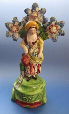 Pearlware Figure Staffordshire Pottery Antique Gardener Ebay