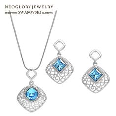 Aliexpress.com : Buy Neoglory MADE WITH SWAROVSKI ELEMENTS Crystal Necklace & Pearl Necklace Jewelry Set for Women for Christmas 2014 from R...