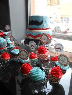 Mustache cake.