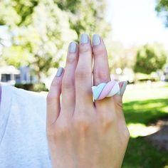 Amazon.com: Elfi Handmade Kawaii Marshmallow Ring, Cute Candy Dessert Ring, Best Selling, Perfect for Christmas gifts: Handmade