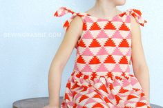 FREE pattern for doll and girl Knot Dress