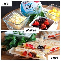 Skinny Healthy Fit Meal Mexican Quesadilla