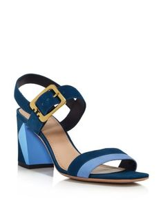Tory Burch Palermo Color Block Ankle Strap Sandals | Bloomingdale's