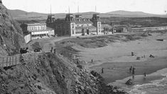 Seal Rock House (left structure) and Ocean Beach Pavilion (large central structure)