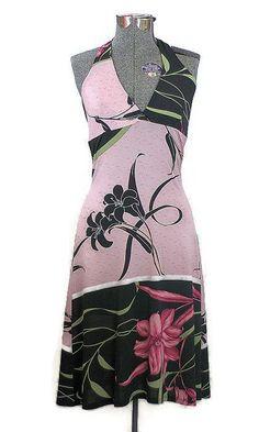 Vintage Boho Glam Halter Sun Dress, New Listing