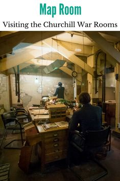 Darkest Hour: Visiting the Churchill War Rooms - Map Room #anncavittfisher #travel #travelblogger #uk