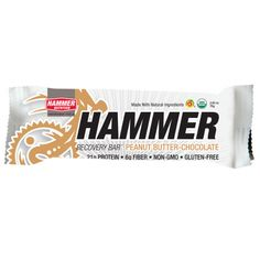 Once the post-race dust has settled and you've drunk a bottle of Hammer Recoverite, you'll need to eat something. Hammer Recovery Bars are the perfect protein-heavy recovery snack.
