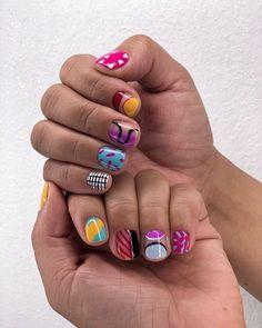 Minimalist Nails, Get Nails, Hair And Nails, Nail Design Glitter, Cute Nail Art Designs, Nagellack Trends, Fire Nails, Crazy Nails, Stylish Nails