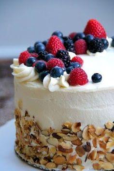 almond berry chiffon cake