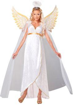 Платье, крылья и нимб ангела — карнавальный костюм для девушки — http://fas.st/1Aeu9